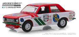 Datsun  - 510 1972 white/red - 1:64 - GreenLight - 13240F - gl13240F | The Diecast Company