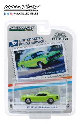 Plymouth  - Hemi Cuda 1970 green - 1:64 - GreenLight - 30069 - gl30069 | The Diecast Company