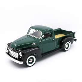 GMC  - 1950 green/black - 1:18 - Lucky Diecast - 92648 - ldc92648gnbk | The Diecast Company