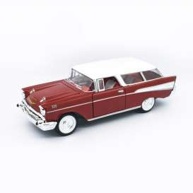 Chevrolet  - Nomad 1957 red/white - 1:24 - Lucky Diecast - 24203 - ldc24203r | The Diecast Company