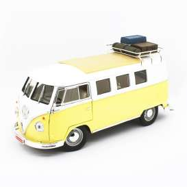 Volkswagen  - Microbus 1962 yellow/white - 1:18 - Lucky Diecast - 92328A - ldc92328Ay | The Diecast Company