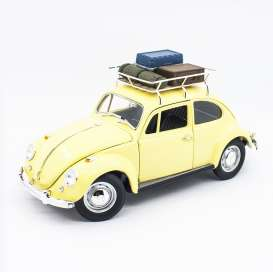 Volkswagen  - Beetle 1967 yellow - 1:18 - Lucky Diecast - 92078A - ldc92078Ay | The Diecast Company