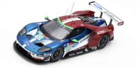 Ford  - GT 2018 red/blue/white - 1:43 - Spark - S7050 - spas7050 | The Diecast Company