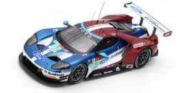 Ford  - GT 2018 red/blue/white - 1:43 - Spark - S7051 - spas7051 | The Diecast Company