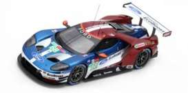 Ford  - GT 2018 red/blue/white - 1:43 - Spark - S7052 - spas7052 | The Diecast Company