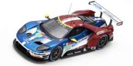 Ford  - GT 2018 red/blue/white - 1:43 - Spark - S7053 - spas7053 | The Diecast Company