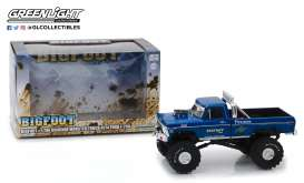 Ford  - F250 Monster Truck 1974 blue/green - 1:43 - GreenLight - 86097 - gl86097GM | The Diecast Company