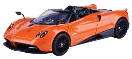 Pagani  - Huayra Roadster 2018 orange - 1:24 - Motor Max - 79354 - mmax79354o | The Diecast Company