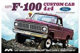 Ford  - F100 custom cab 1970  - 1:25 - Moebius - 1230 - moes1230 | The Diecast Company