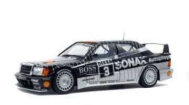 Mercedes Benz  - 190E 1990 black - 1:18 - Solido - 1801002 - soli1801002 | The Diecast Company