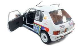 Peugeot  - 205 Rally 1989 white/red/blue - 1:18 - Solido - 1801703 - soli1801703 | The Diecast Company