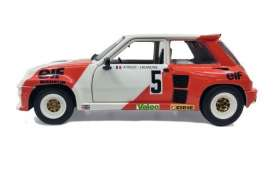 Renault  - 5 Turbo 1982 red/white - 1:18 - Solido - 1801305 - soli1801305 | The Diecast Company
