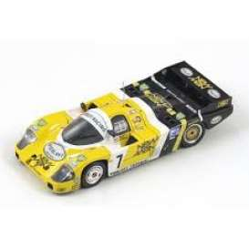 Porsche  - 956 1984 black/yellow/white - 1:87 - Spark - 87LM84 - spa87LM84 | The Diecast Company