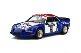 Renault  - Alpine A110 1977 blue/white/red - 1:18 - OttOmobile Miniatures - ot795 - otto795 | The Diecast Company