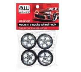 Rims & tires Wheels & tires - 2018 chrome - 1:18 - Auto World - PP003 - AWPP003 | The Diecast Company