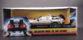 Delorean  - Back to the Future I 1983 stainless steel - 1:18 - SunStar - 2716 - sun2716 | The Diecast Company