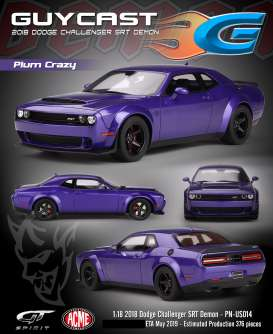 Dodge  - Challenger SRT Demon 2018 plum crazy - 1:18 - Acme Diecast - US014 - GTUS014 | The Diecast Company