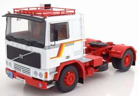 Volvo  - F12 1972 white/red - 1:18 - Road Kings - 180031 - rk180031 | The Diecast Company
