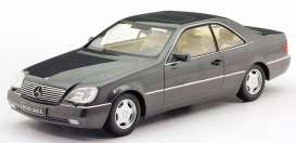 Mercedes Benz  - 600 SEC 1992 anthracite - 1:18 - KK - Scale - 180341 - kkdc180341 | The Diecast Company