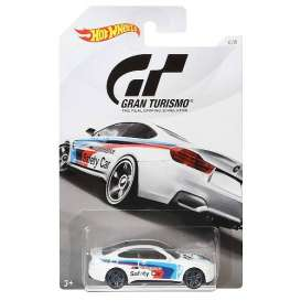BMW  - M4 2018 white/blue/red - 1:64 - Hotwheels - mvFKF32 - hwmvFKF32 | The Diecast Company