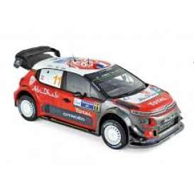 Citroen  - C3 2018 red/white/black - 1:18 - Norev - 181638 - nor181638 | The Diecast Company