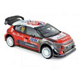 Citroen  - C3 2018 red/white/black - 1:18 - Norev - 181639 - nor181639 | The Diecast Company