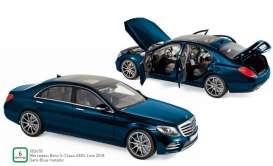 Mercedes Benz  - S-Class AMG Line 2018 blue - 1:18 - Norev - 183478 - nor183478 | The Diecast Company