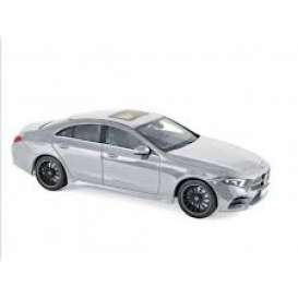Mercedes Benz  - CLS-Class  2018 silver - 1:18 - Norev - 183489 - nor183489 | The Diecast Company