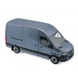 Mercedes Benz  - Sprinter 2018 blue-grey - 1:18 - Norev - 183423 - nor183423 | The Diecast Company