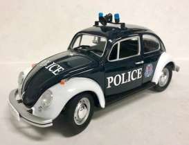 Volkswagen  - Beetle Singapore Police 1968 black/white - 1:18 - GreenLight - 51118 - gl51118 | The Diecast Company