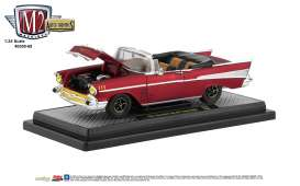 Chevrolet  - Bel Air Convertible 1957 red/black - 1:24 - M2 Machines - 40300-68B - M2-40300-68B | The Diecast Company