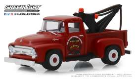 Ford  - F-100 1956 orange-red - 1:64 - GreenLight - 39010B - gl39010B | The Diecast Company