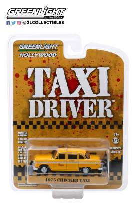 Checker  - 1975 yellow - 1:64 - GreenLight - 44860B - gl44860B | The Diecast Company