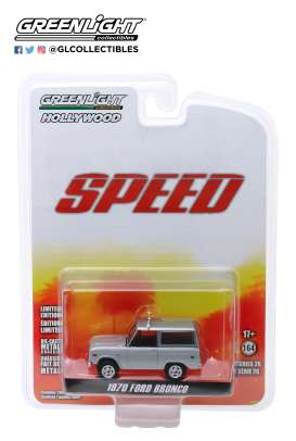 Ford  - Bronco 1970 white/silver - 1:64 - GreenLight - 44860E - gl44860E | The Diecast Company