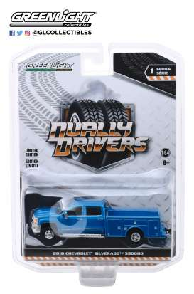 Chevrolet  - Silverado 2018 blue - 1:64 - GreenLight - 46010B - gl46010B | The Diecast Company