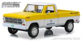 Ford  - F-100 1968 yellow/white - 1:24 - GreenLight - 85023 - gl85023GM | The Diecast Company