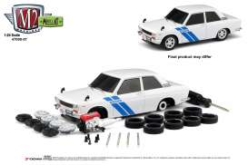 Datsun  - 510 1970 white/blue - 1:24 - M2 Machines - 47000-07A - M2-47000-07A | The Diecast Company