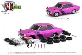 Datsun  - 510 1970 pink/black - 1:24 - M2 Machines - 47000-07B - M2-47000-07B | The Diecast Company