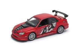 Subaru  - Impreza perfermance red/black - 1:24 - Welly - 22487S - welly22487Sr | The Diecast Company