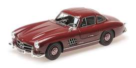Mercedes Benz  - 300SL 1955 dark red - 1:18 - Minichamps - 110037218 - mc110037218 | The Diecast Company