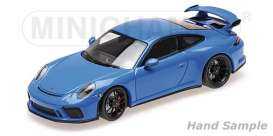 Porsche  - 911 GT3 2018 blue - 1:18 - Minichamps - 110067024 - mc110067024 | The Diecast Company
