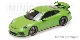 Porsche  - 911 GT3 2018 yellow/green - 1:18 - Minichamps - 110067025 - mc110067025 | The Diecast Company