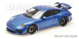 Porsche  - 911 GT3 2017 blue - 1:18 - Minichamps - 110067030 - mc110067030 | The Diecast Company