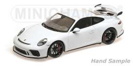 Porsche  - 911 GT3 2017 white - 1:18 - Minichamps - 110067032 - mc110067032 | The Diecast Company