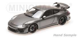 Porsche  - 911 GT3 2017 grey - 1:18 - Minichamps - 110067034 - mc110067034 | The Diecast Company