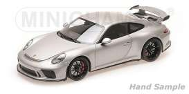 Porsche  - 911 GT3 2017 grey - 1:18 - Minichamps - 110067035 - mc110067035 | The Diecast Company