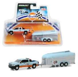 Chevrolet  - Silverado 2017 gulf blue/orange - 1:64 - GreenLight - 51243 - gl51243 | The Diecast Company
