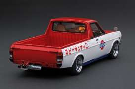 Nissan  - Sunny Truck Long white/red - 1:18 - Ignition - IG1435 - IG1435 | The Diecast Company