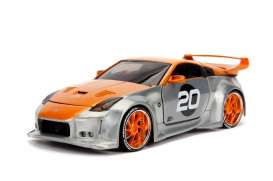 Nissan  - 350Z 2003 chrome/yellow - 1:24 - Jada Toys - 45001 - jada45001 | The Diecast Company