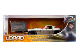 Chevrolet  - Corvette Split Window 1963 chrome/black/orange - 1:24 - Jada Toys - 45006 - jada45006 | The Diecast Company